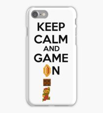 Keep Calm And Game On! iPhone Case/Skin