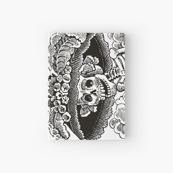 Calavera Catrina | Day of the Dead | Dia de los Muertos | Skulls and Skeletons | Vintage Skeletons | Black and White |  Hardcover Journal