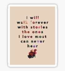 I will walk with stories Sticker