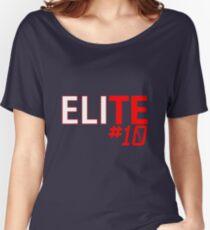 Eli Manning Elite #10 - Giants Women's Relaxed Fit T-Shirt