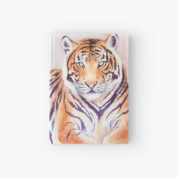 Watercolor Tiger Hardcover Journal