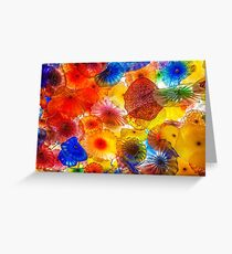Colorful Chihuly Glass Patterns Greeting Card