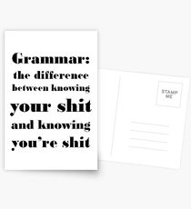 Grammar: The Difference Between Your and You're Postcards