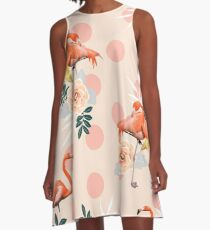 Flamingo Jazz #redbubble #decor #pattern A-Line Dress