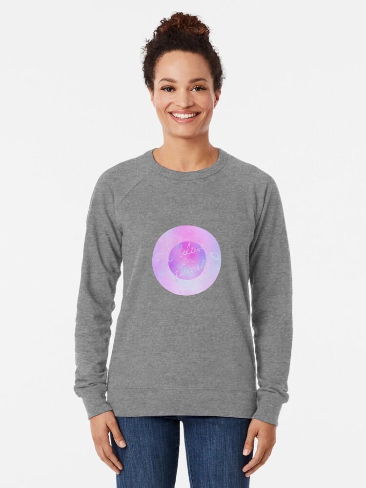 Alternative Ansicht von Ich glaube - galaktisch Leichter Pullover