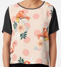 Flamingo Jazz #redbubble #decor #pattern Chiffon Top