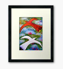 """ FLYING NORTH - FLYING SOUTH "" Framed Print"
