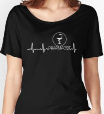 Heartbeat Pharmacist Shirt - Funny Shirt For Pharmacist Women's Relaxed Fit T-Shirt