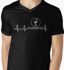 Heartbeat Pharmacist Shirt - Funny Shirt For Pharmacist Men's V-Neck T-Shirt