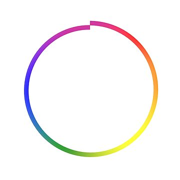 Rainbow Imperfect Circle by Lozmosis