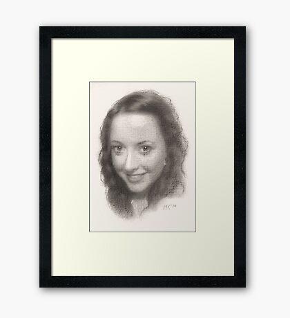 """""""Lesley"""" Framed Print"""