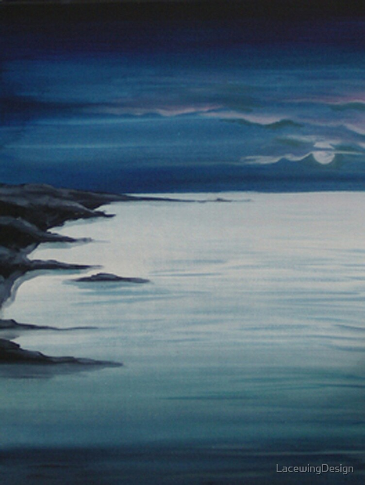 BREAKERS ~ LOOE ~ ACRYLIC & WATERCOLOUR by LacewingDesign
