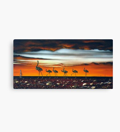 A Longneck and Six Stubbies (Red) Canvas Print
