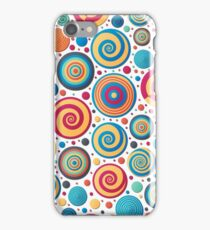 Abstract Doodle dotted background Dot work  iPhone Case/Skin