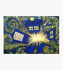 Exploding TARDIS Photographic Print