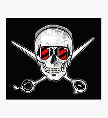 Barber Skull Photographic Print
