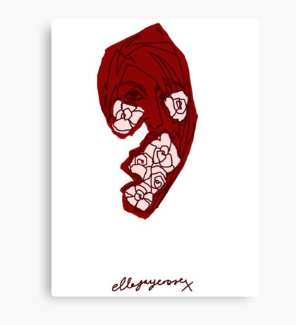 'Red Rose' Canvas Print