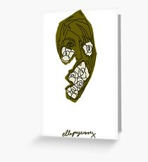 'Khaki Rose' Greeting Card