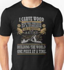 Wood Worker Soft Screen Printed Summer graphic Carpenter Woodworker Father Gift T-shirt T-Shirt