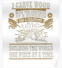 Wood Worker Soft Screen Printed Summer graphic Carpenter Woodworker Father Gift T-shirt Poster
