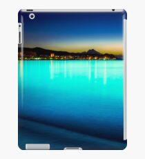 The sea glowed turquoise iPad Case/Skin
