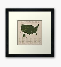 US National Parks Framed Print