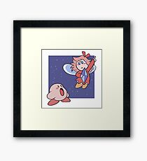 Kirby and the Crystal Shards Framed Print