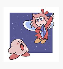 Kirby and the Crystal Shards Photographic Print