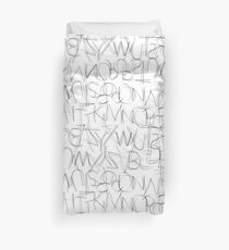 Alpha Bet 1.0 Duvet Cover