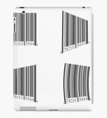 colorful illustration  with bar code set on white background iPad Case/Skin