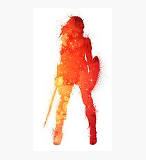 Fire Woman Photographic Print