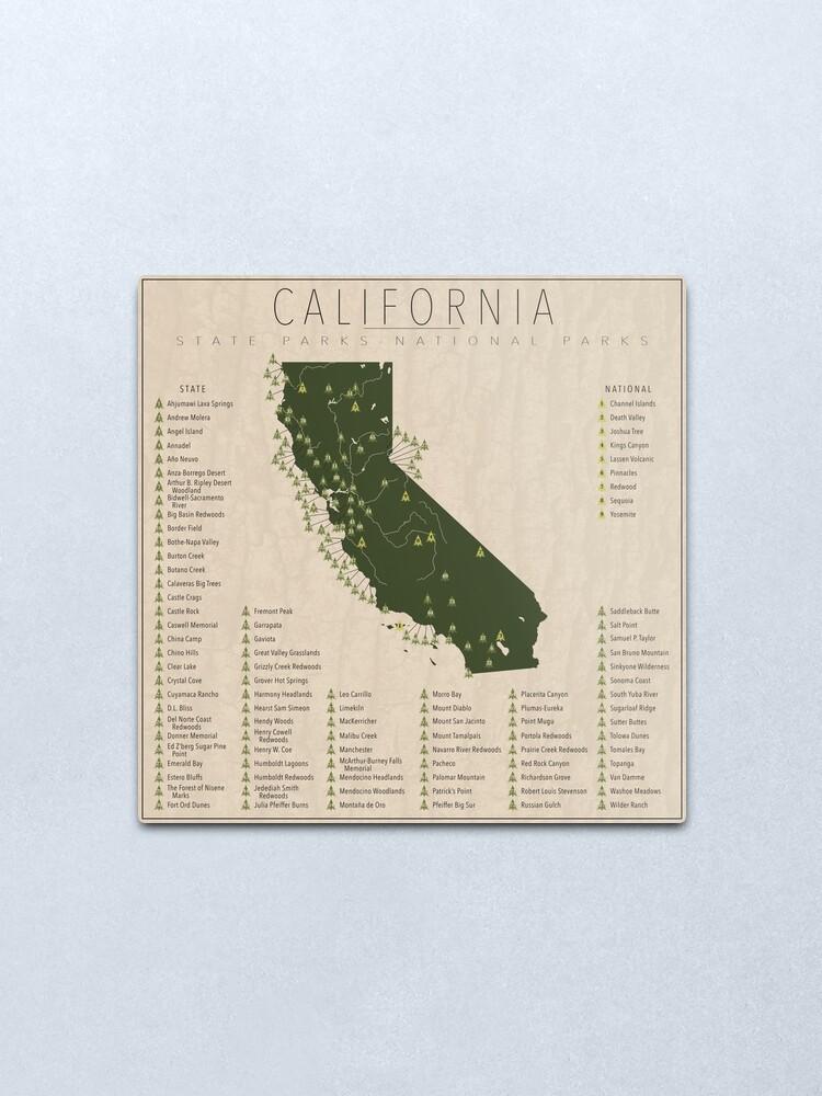 Alternate view of California Parks Metal Print