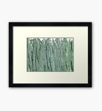 Morning blue abstract watercolor Framed Print