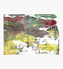 Wenge abstract watercolor Photographic Print