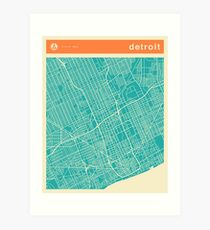 DETROIT MAP Art Print