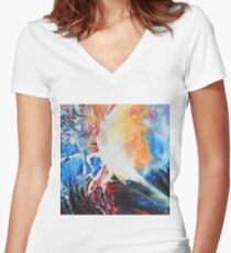 I wish upon the stars, 100-100cm, 2017, oil on canvas Women's Fitted V-Neck T-Shirt
