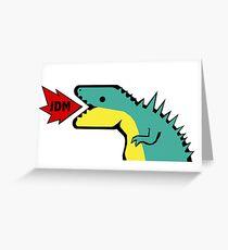 JDM Dino Greeting Card