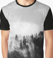 Black & White Misty Forest Graphic T-Shirt