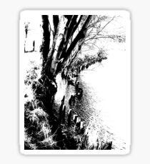 Edge of the river Sticker