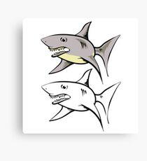 cartoon shark Canvas Print
