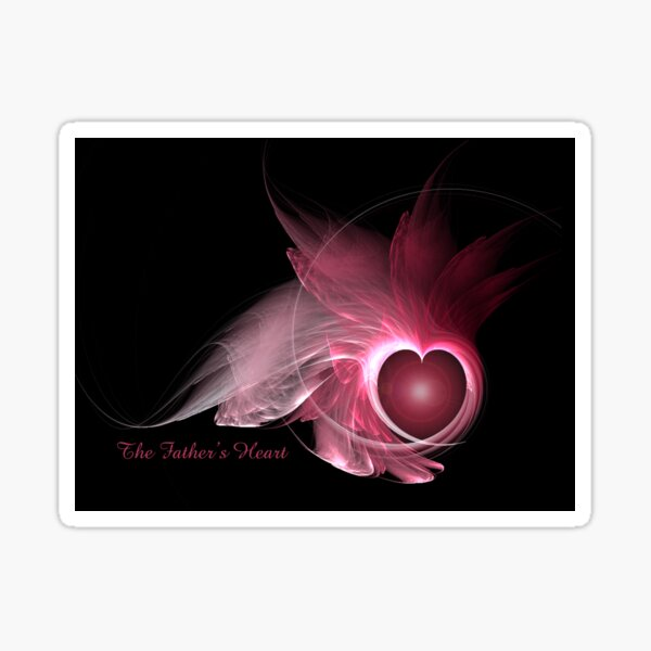 The Father's Heart Fractal Flame Sticker