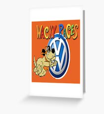 VW Wacky Races Muttley Greeting Card