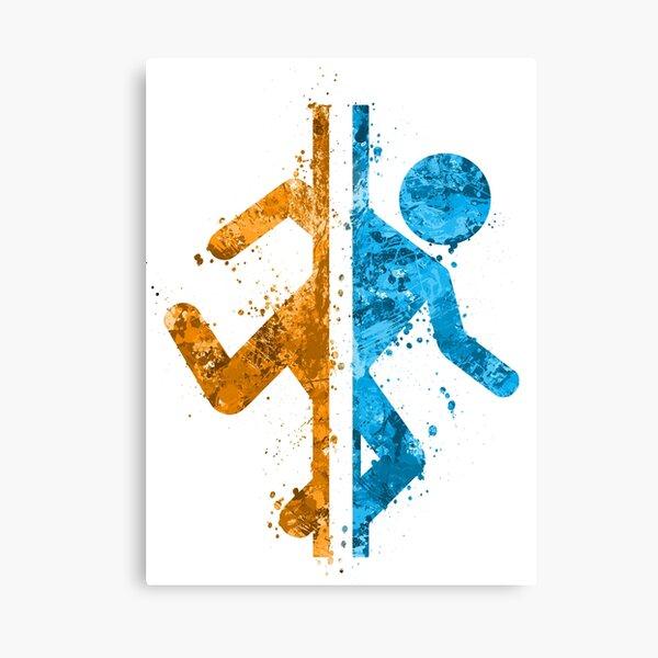 Portal Splatter Canvas Print