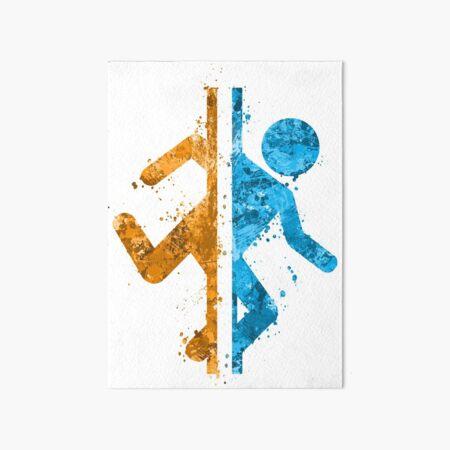Portal Splatter Art Board Print