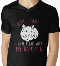 Sorry, I Can't ...I Have Plans With My Hamster Men's V-Neck T-Shirt