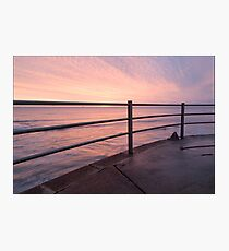 sunrise rail Photographic Print