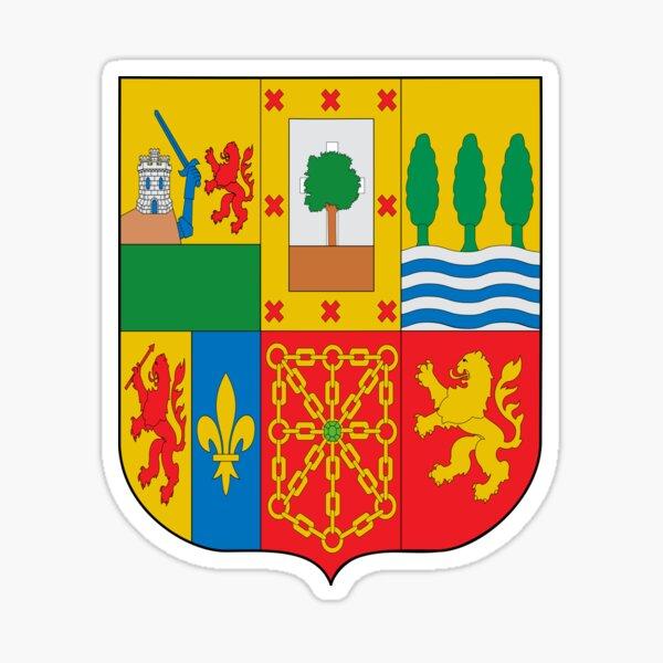 Escudo de armas del pais vasco Pegatina