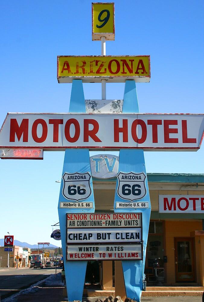 Route 66 Mom & Pop Motel by Patricia Montgomery