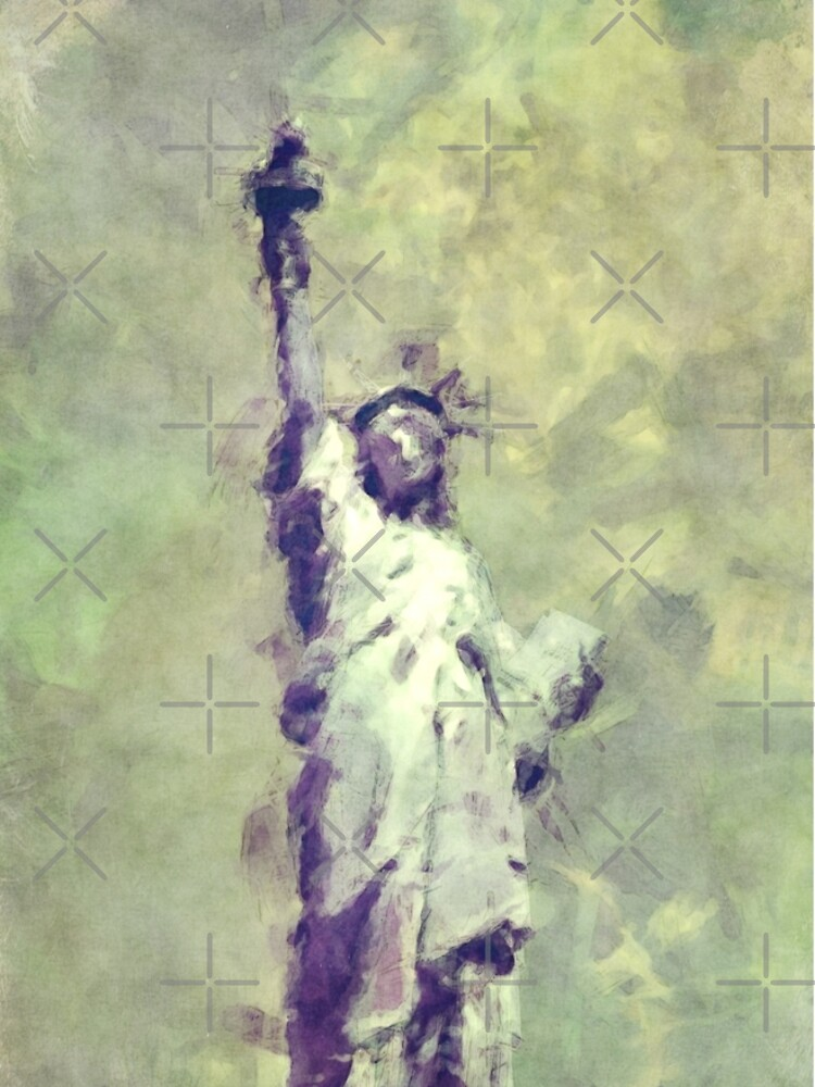 Textured Statue of Liberty by morningdance