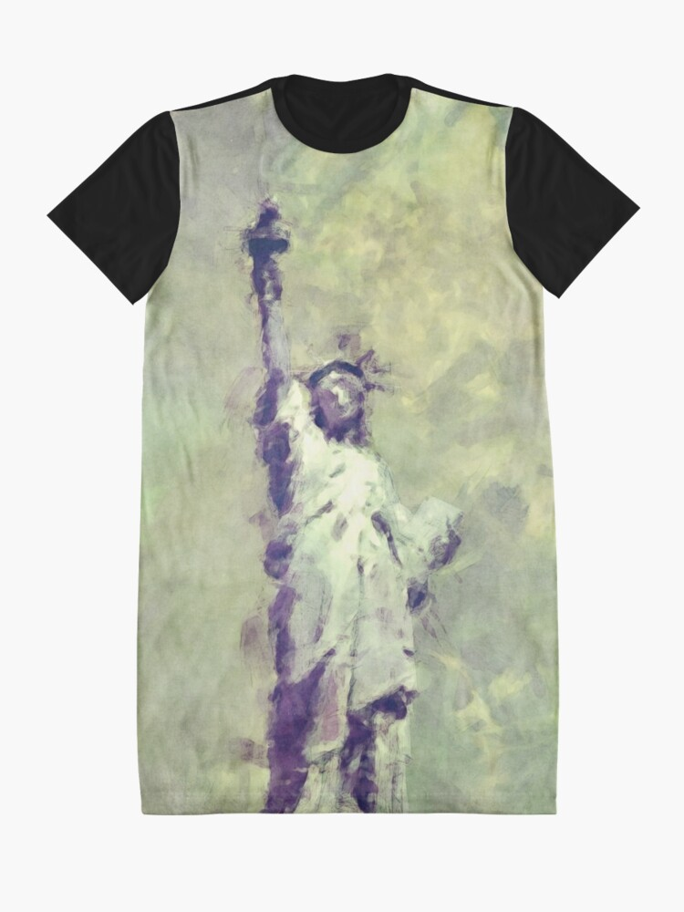 Alternate view of Textured Statue of Liberty Graphic T-Shirt Dress